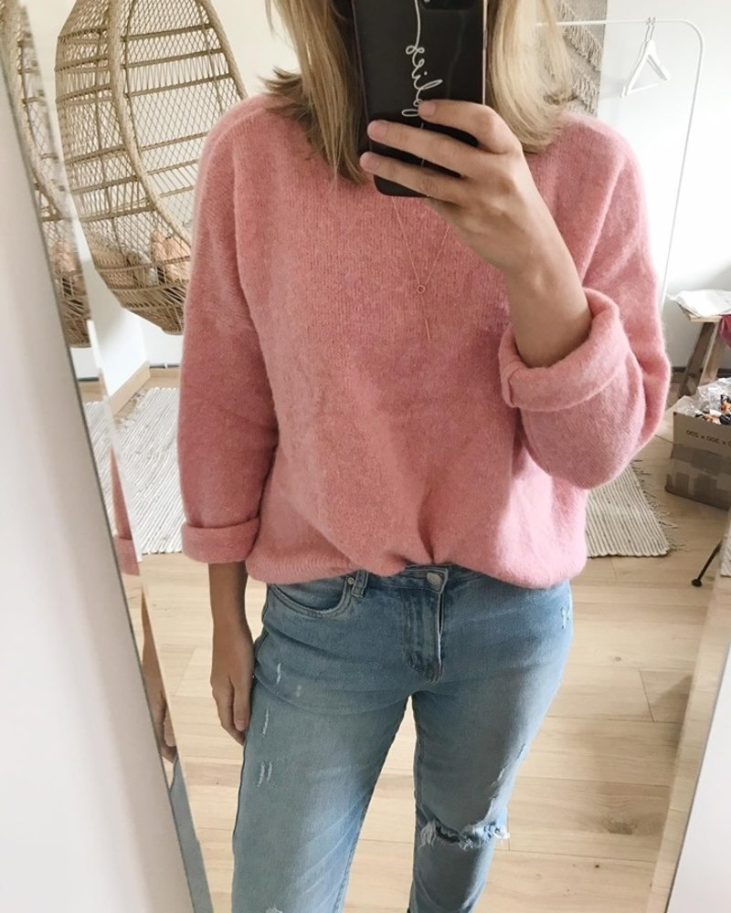 Loose Sweater Soft Pink