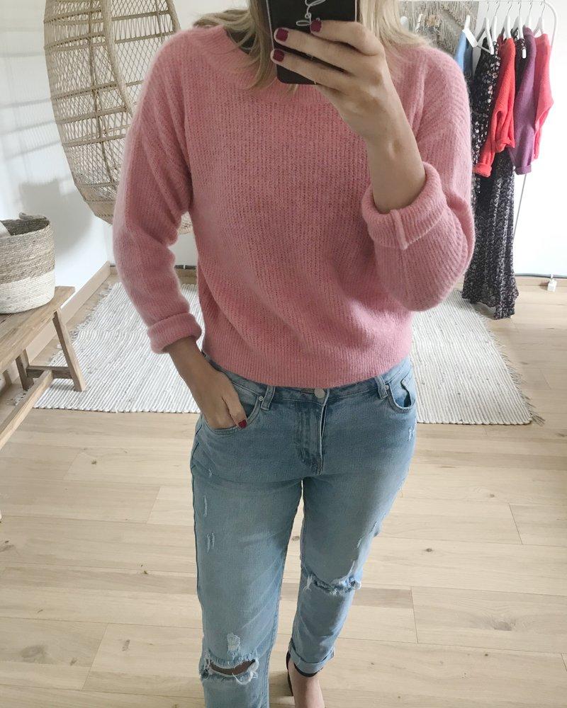 Crop Sweater Soft Pink