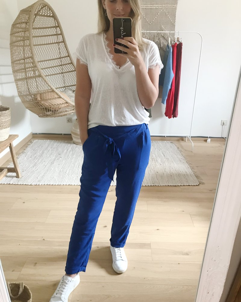 Casual Chic Pants Kobalt