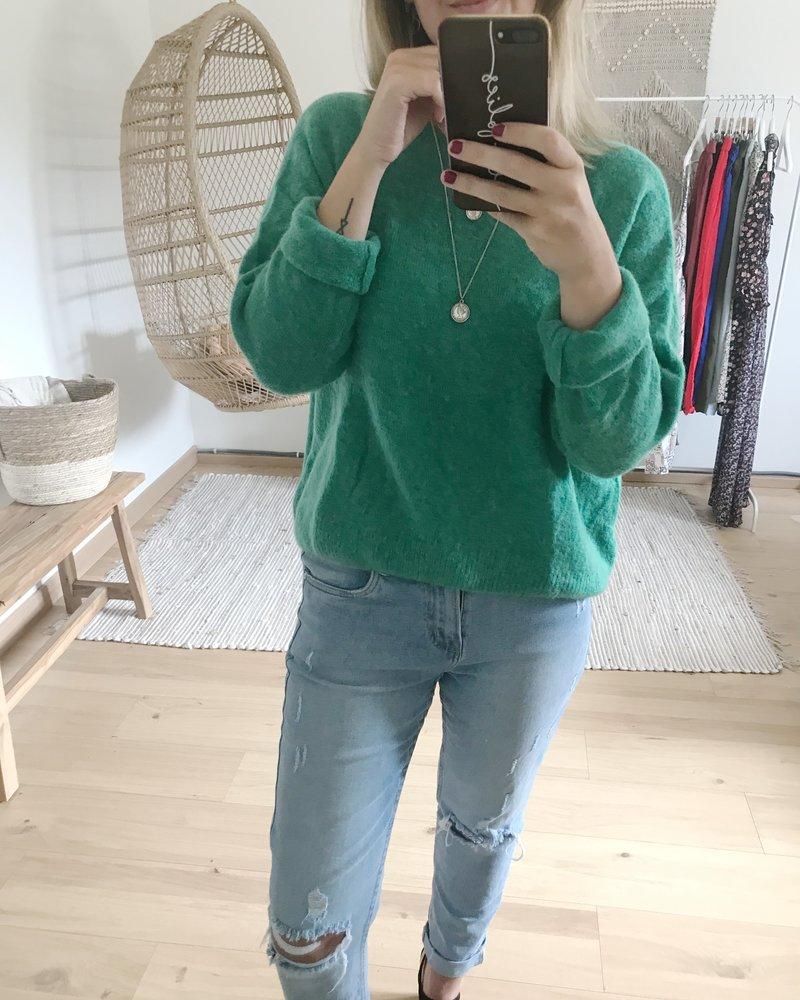 Loose Sweater Grass Green