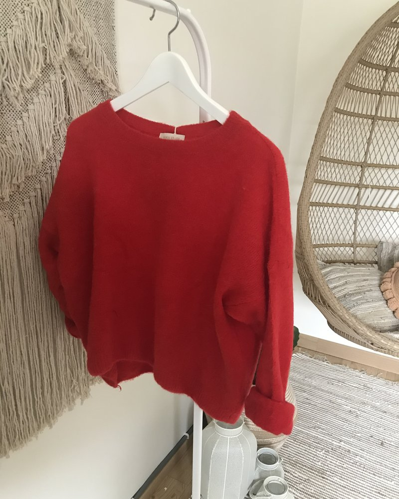 Loose Sweater Red