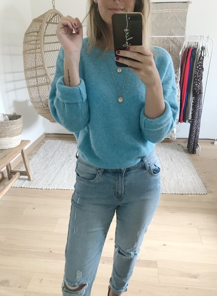Loose Sweater Bright Blue