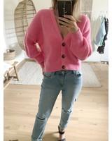 Button Knit Pink