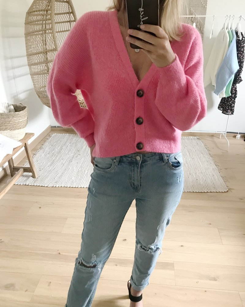 Button Knit Pink