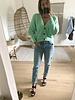 Button Knit Green