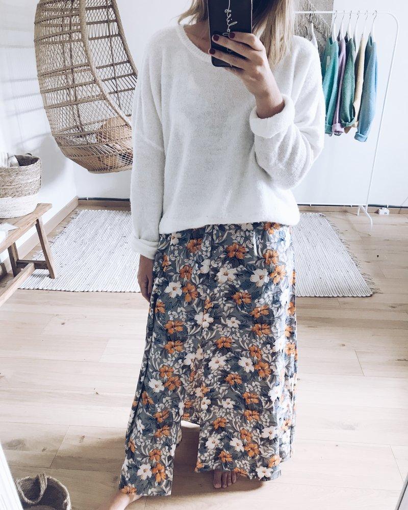 Flower Maxi Dress / Skirt Blue