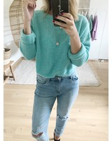 Loose Sweater Summer Green