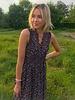 Boho Flower Maxi Dress