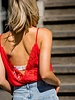 Open Lace Back Top Red