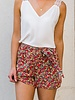 Colourful Short Red