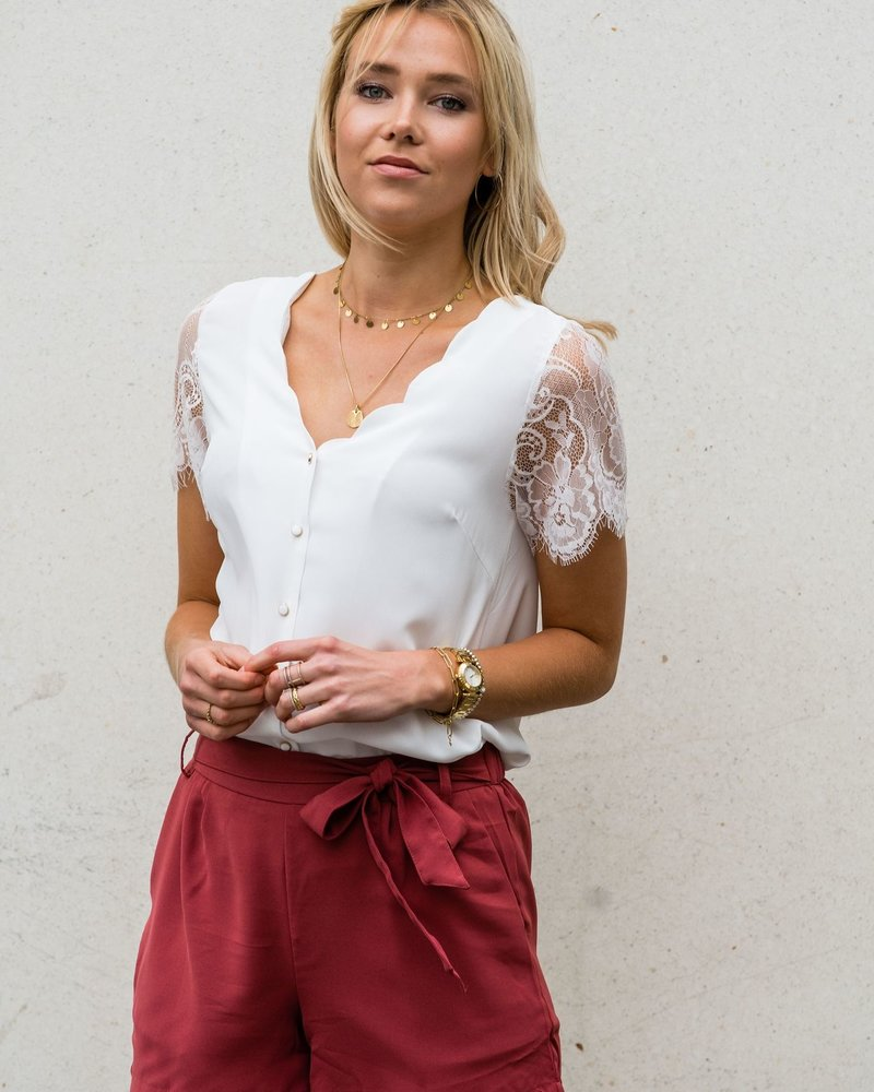 Louise Top White