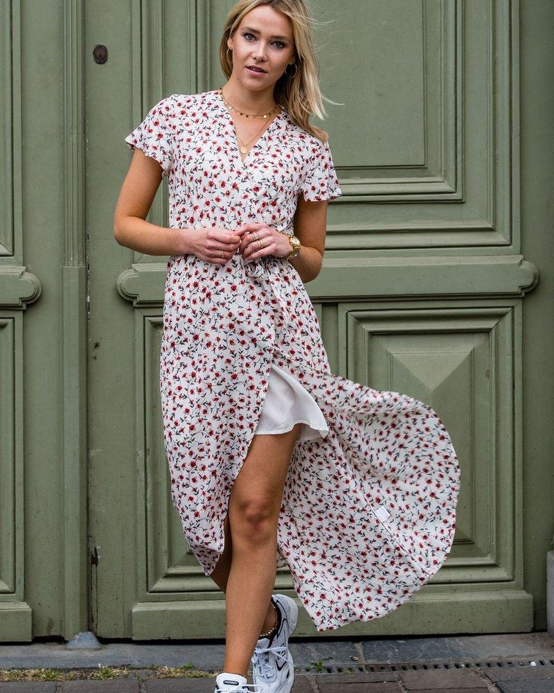 Little Flowers Maxi Dress White