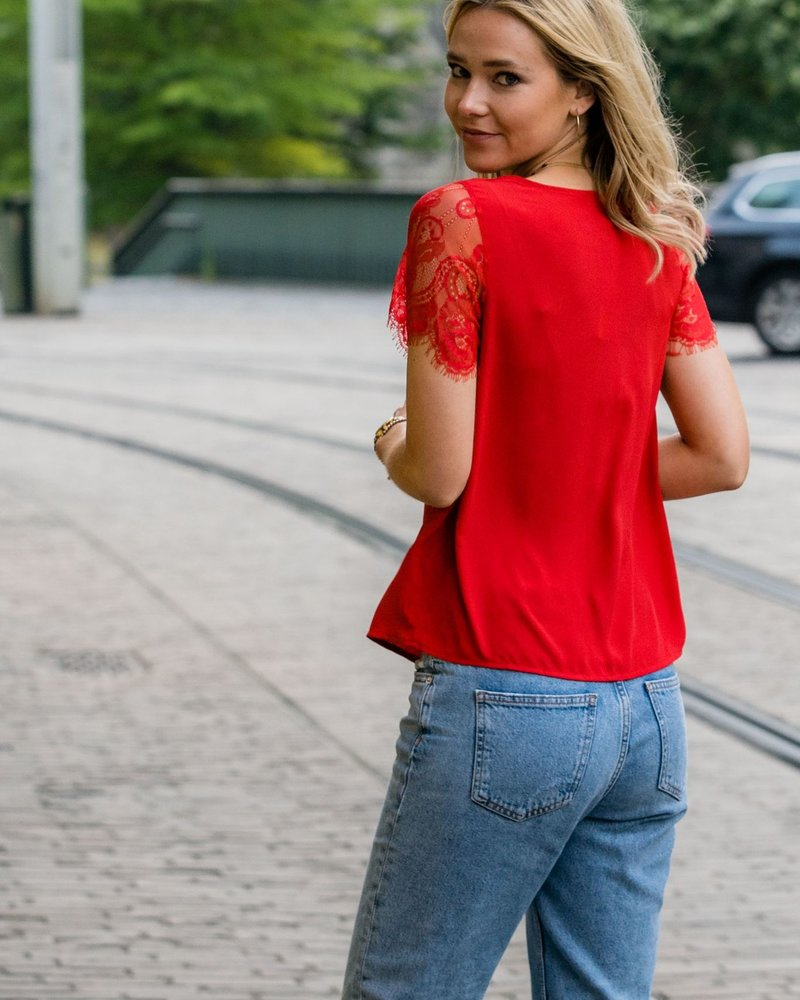 Louise Top Red