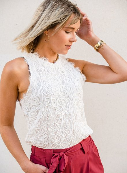 All Lace Top White