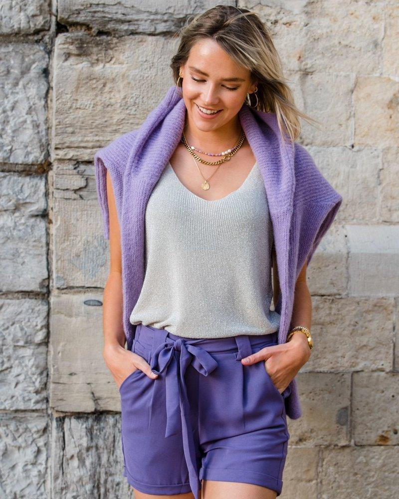 High Waist Short Purple
