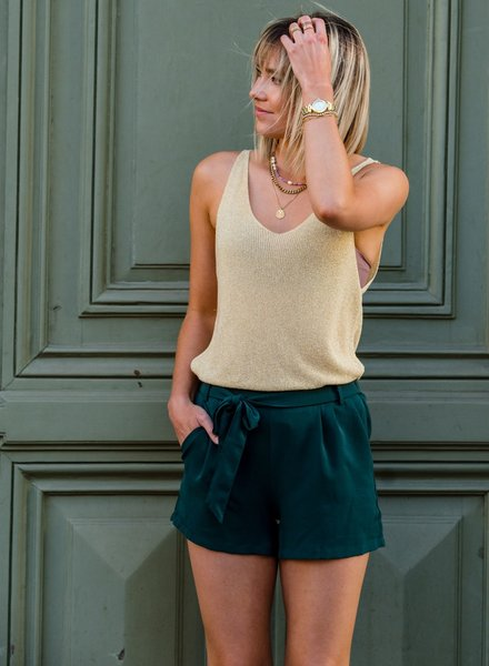 Casual Chic Short Green