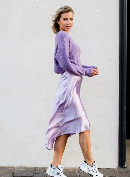 Lila Silk Skirt