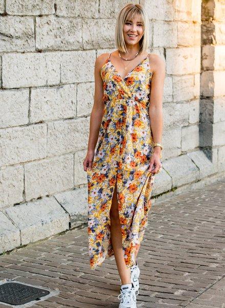 Flower Maxi Dress Yellow