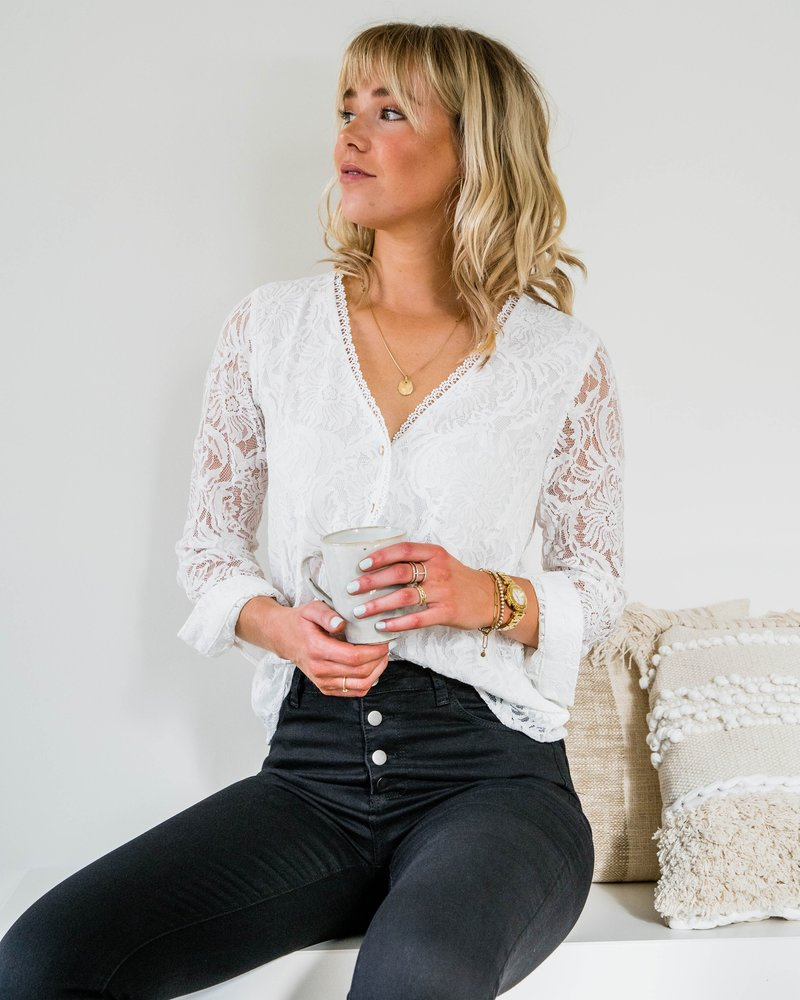 All Lace Blouse White