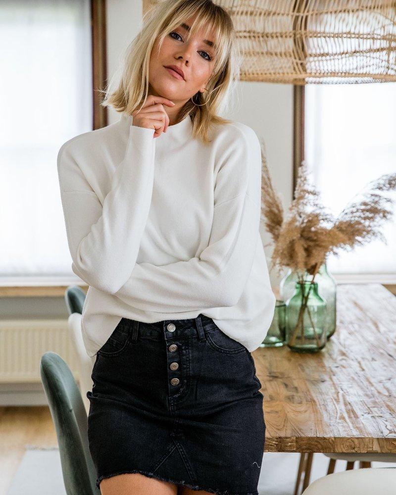 Feline Jeansskirt Black