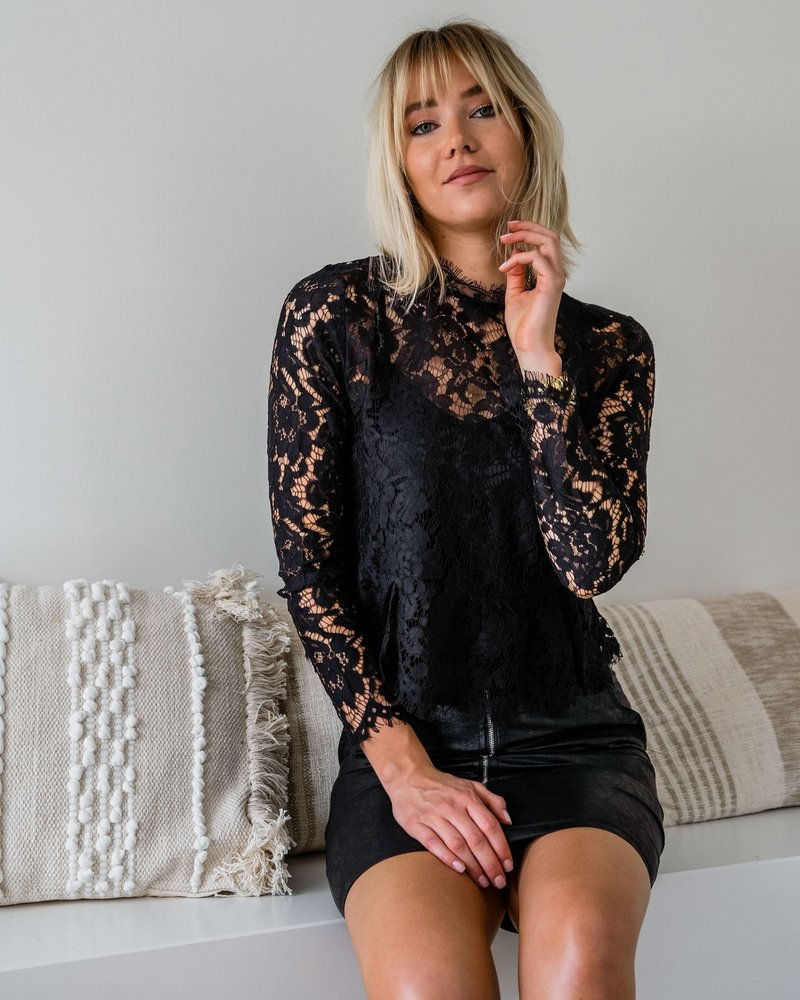 Rina Lace Blouse Black