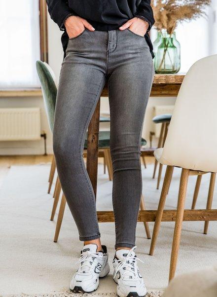 Mid Waist Jeans Grey