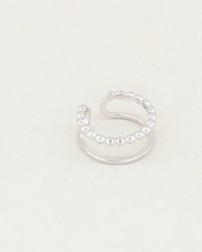 Ear Cuff Double Ring Zilver