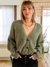 Button Knit Kaki