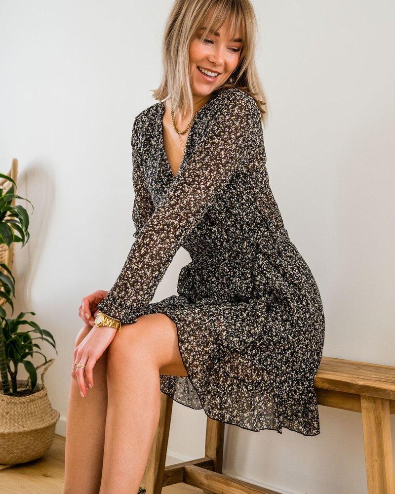 Cindy Flower Wrap Dress