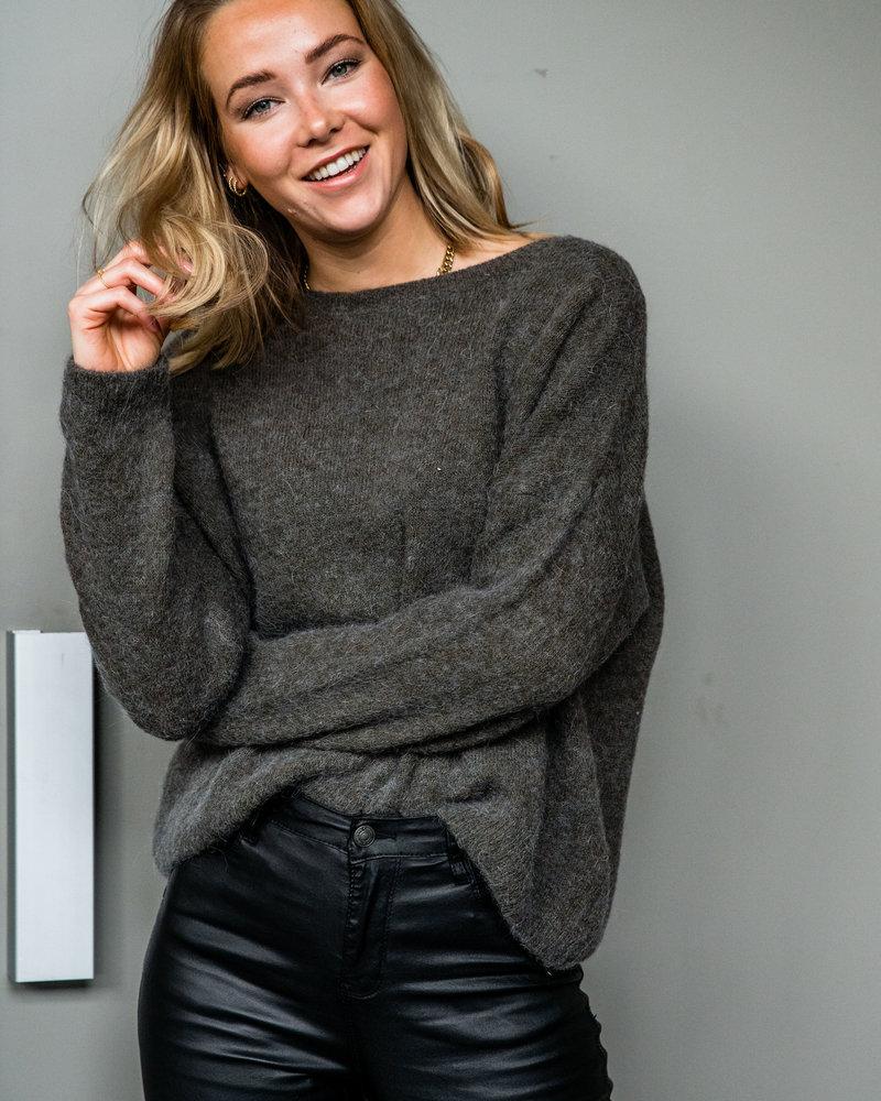 Loose Sweater Kaki
