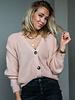 Button Knit soft Pink