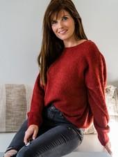 Loose Sweater Fall Red