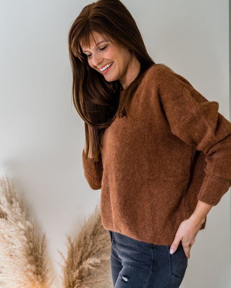 Loose Sweater Camel