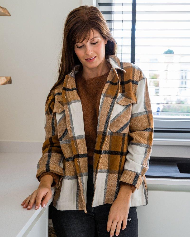 Checkered Shirt Camel