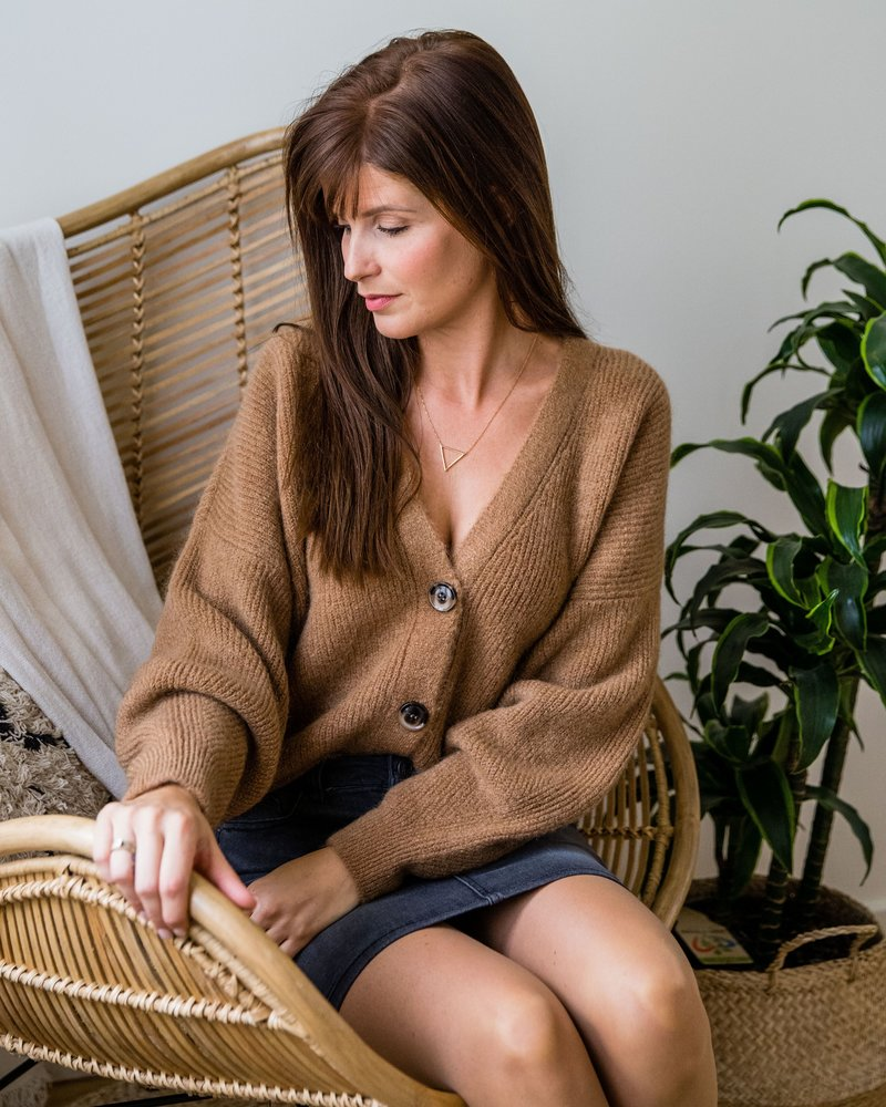 Button Knit Camel