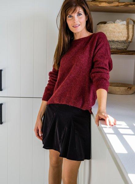 Loose Sweater Burgundy