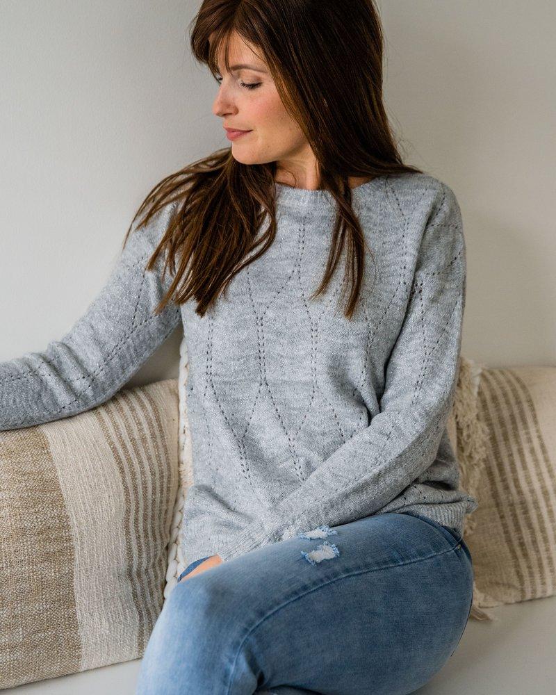 Silver Sparkle Sweater