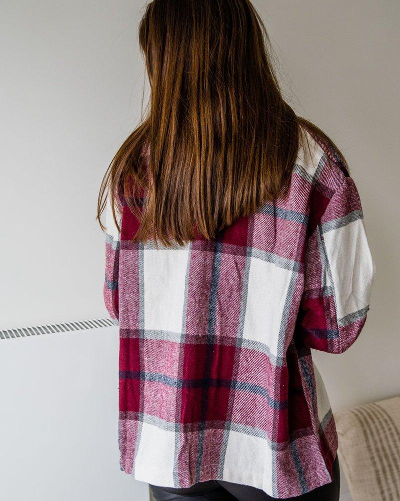 Checkered Shirt Wine