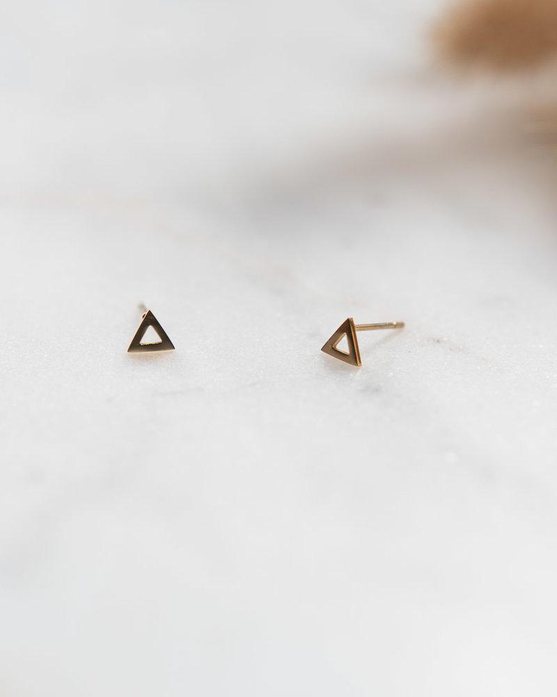 Studs open driehoek Goud