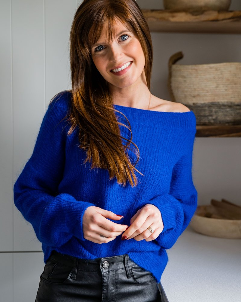 Crop Sweater Kobalt