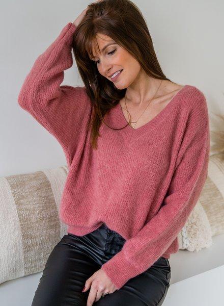 V-Sweater Roze