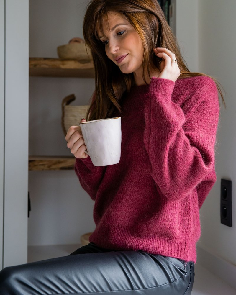 Crop Sweater Raspberry