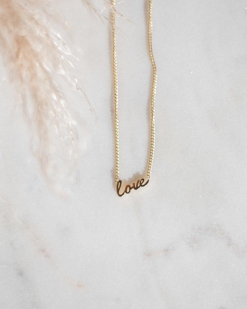 Ketting Love Goud