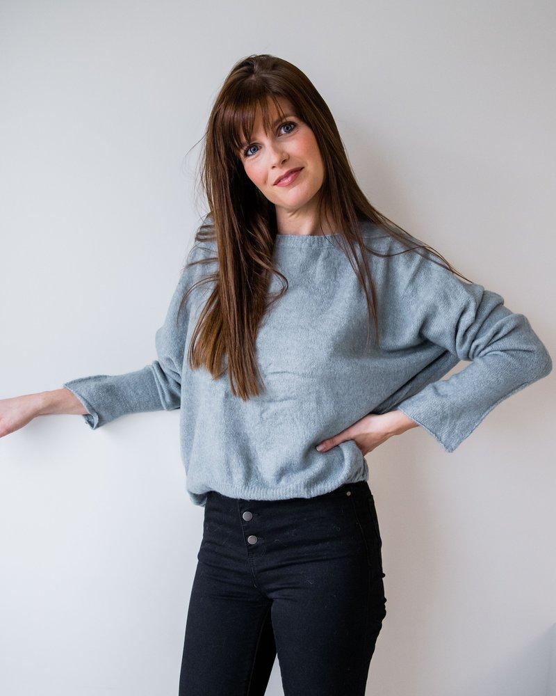 Lina Sweater Mint/Grey