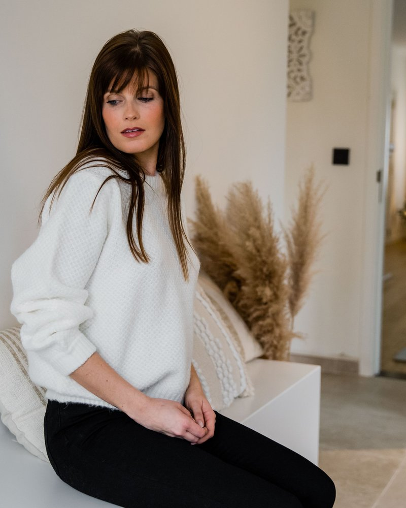 Ella Sweater White