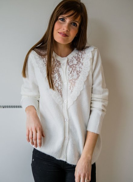 Crochet Cardi White