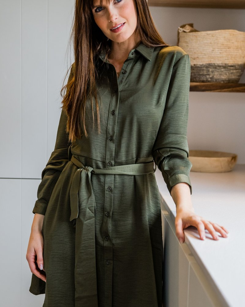 Classy Casual Dress Kaki