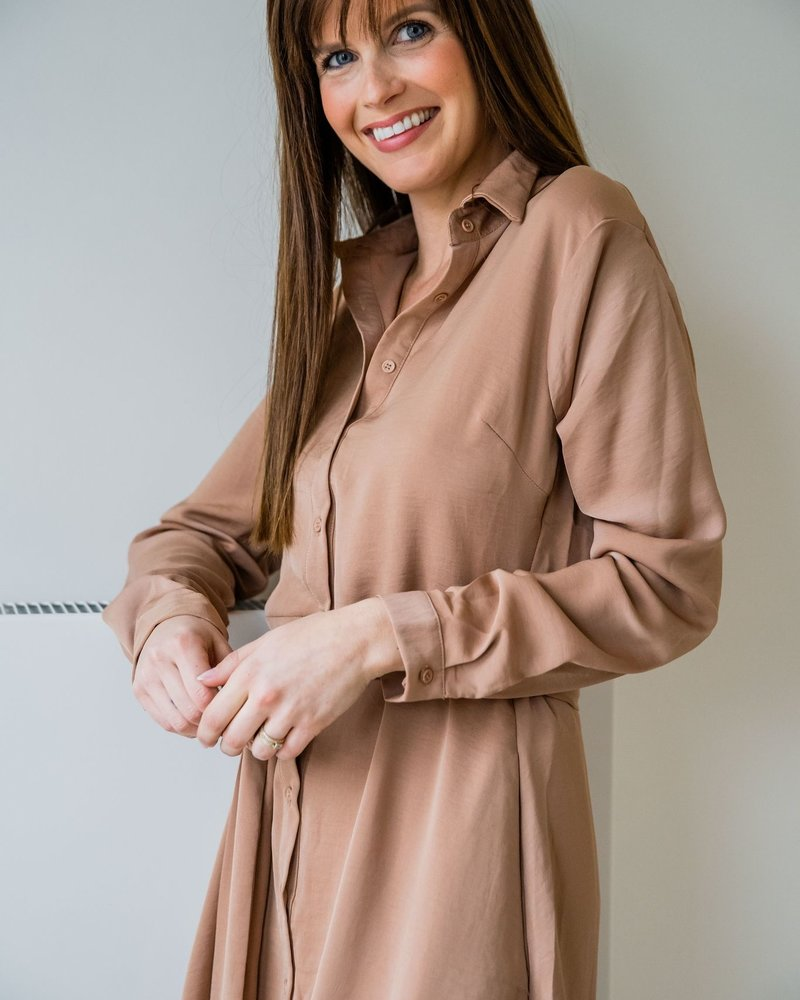 Classy Casual Dress Camel