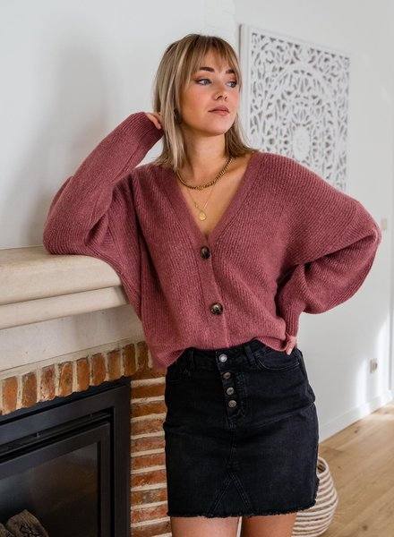 Button Knit Raspberry