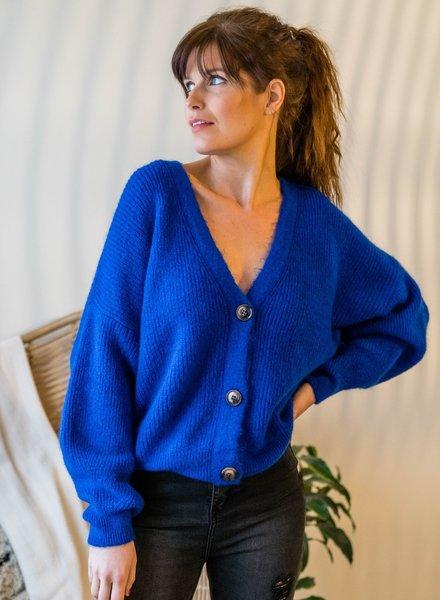 Button Knit Kobalt